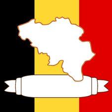 Free Map Of Belgium Royalty Free Stock Photo - 9077225