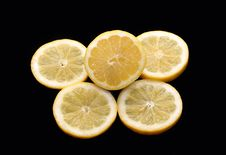 Free Lemon And Piece Of Lemon Stock Photography - 9077492