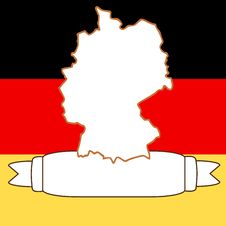 Free Map Of Germany Royalty Free Stock Image - 9077646