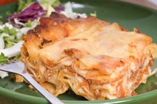 Free Lasagna On A Plate Royalty Free Stock Photography - 9077797
