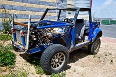 Field Car Stock Image