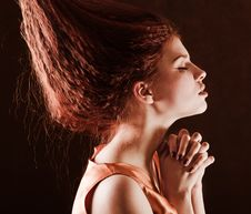 Free Young Pretty Girl Woth Red Hair Stock Images - 9078994