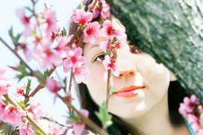 Free Young Girl In Spring Garden Stock Photos - 9079183