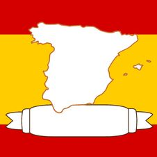 Free Map Of Spain Royalty Free Stock Photo - 9079605