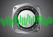 Abstract Background With Speaker Stock Image