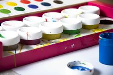 Used Paints Royalty Free Stock Photo