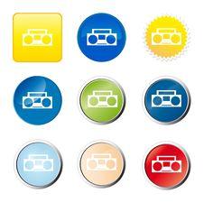 Free Cassette Recorder Web Button Stock Photos - 9079903