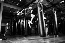 Free Boxer In Gym Stock Images - 90717524