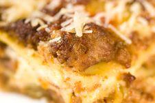 Free Lasagna Macro Shot Stock Images - 9080254