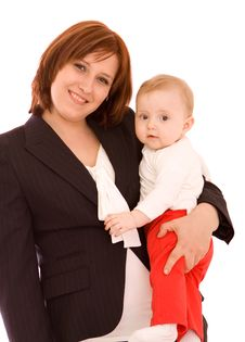 Free Businesswoman With Baby Stock Images - 9081204