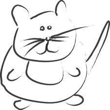 Cartoon Mouse Stock Photo