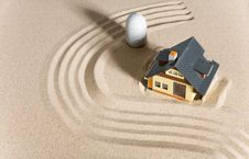 Free House On Sand. Royalty Free Stock Images - 9083739