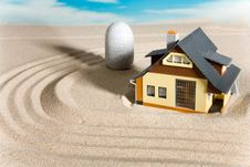 Free House On Sand. Royalty Free Stock Photo - 9083745