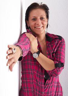 Free Stylish Pink Woman Royalty Free Stock Photography - 9084457