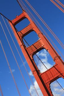 Free Golden Gate Bridge Tower Stock Images - 9084474