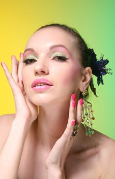 Free Beautiful Girl With Make Up Royalty Free Stock Photos - 9084478