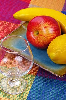 Free Glass And Fruits Stock Photo - 9085200