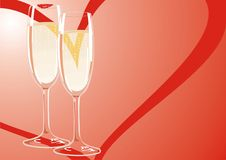 Two Glasses Of Champagne At A Friendly Meeting Of Royalty Free Stock Photos