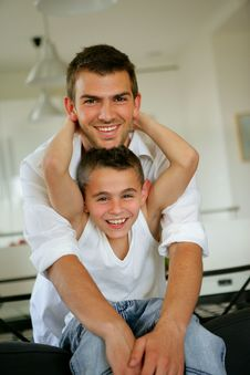 Free Young Man And Boy Stock Image - 9085541