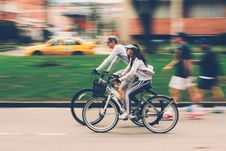Free Bicyclists On Street Stock Photos - 90996653