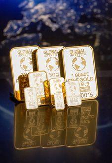 Free Gold Ingots Royalty Free Stock Photography - 90996797