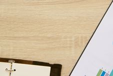 Free Table With Chart And Notebook Stock Photography - 90996992