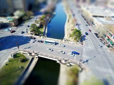 Free Aerial View Of Urban Street Royalty Free Stock Photos - 90997418