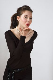 Free Blowing A Kiss Stock Photography - 910062