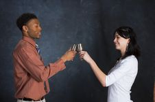Free Couple Toasting Royalty Free Stock Images - 910239