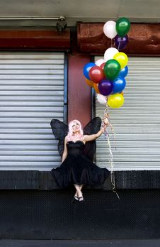 Free Fairy With Balloons Royalty Free Stock Image - 910966