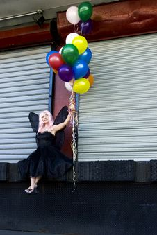 Free Fairy With Balloons Royalty Free Stock Photography - 910977