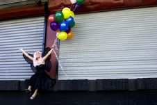 Free Fairy With Balloons Royalty Free Stock Photography - 910997