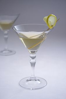 Martini Glasses II Royalty Free Stock Images