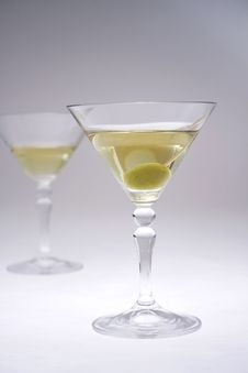 Free Martini Glasses V Royalty Free Stock Image - 911166