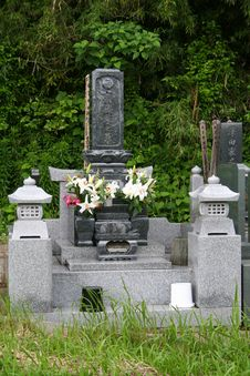 Japanese Tomb Stock Image