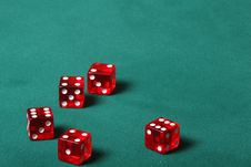 Free Five Dices Stock Photography - 913612