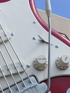 Free Red Guitar Close Up Stock Image - 915291