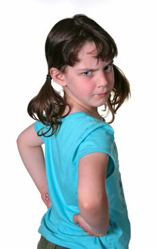 Free Frowning Young Girl Royalty Free Stock Photos - 915398
