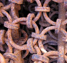 Free Old Rusty Links Royalty Free Stock Photos - 915658
