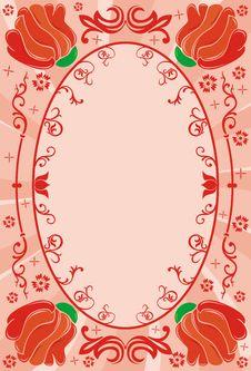 Free Flower Frame, Vector Stock Image - 916141