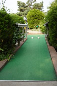 Miniature Golf Hole Stock Images