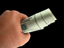 Giving Cash Royalty Free Stock Photo