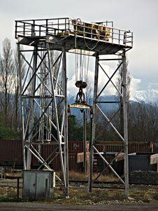 Free Railyard Gantry Royalty Free Stock Photo - 917425