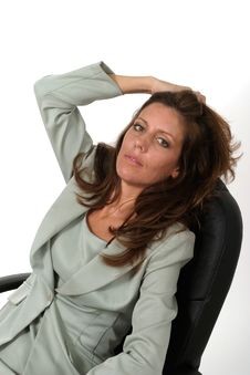 Free Relaxing Business Woman 2 Royalty Free Stock Images - 917589