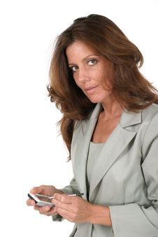 Free Business Woman Using PDA 4 Royalty Free Stock Images - 917719