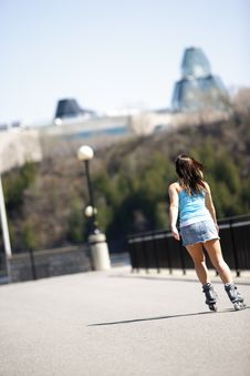 Free Girls In Rollerblade Royalty Free Stock Photography - 918907