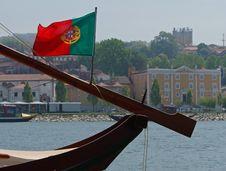 Portuguese Flag Royalty Free Stock Photo