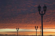 Free Streetlamp At Sunrise Stock Photos - 919613