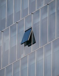 Free Window Open On Modern Building Royalty Free Stock Image - 91054196