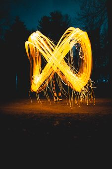 Free Streaks Of Light From Flame Royalty Free Stock Image - 91054946